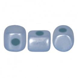 Minos® par Puca® lasihelmi 2,5 x 3 mm, pastelli vaalea safiiri