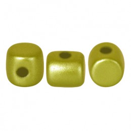 Minos® par Puca® lasihelmi 2,5 x 3 mm, pastelli limenvihreä
