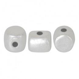 Minos® par Puca® lasihelmi 2,5 x 3 mm, pastelli valkoinen