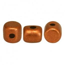 Minos® par Puca® lasihelmi 2,5 x 3 mm, matta kuparinen kulta