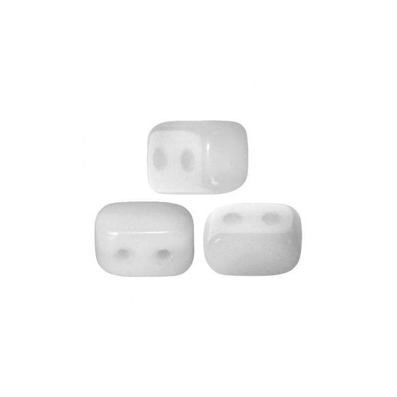 Ios® par Puca® lasihelmi 5,5 x 2,5 mm, opaakki valkoinen