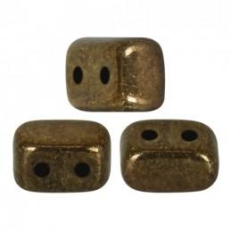 Ios® par Puca® lasihelmi 5,5 x 2,5 mm, opaakki tumma kultainen pronssi