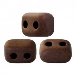 Ios® par Puca® lasihelmi 5,5 x 2,5 mm, opaakki matta tumma pronssi