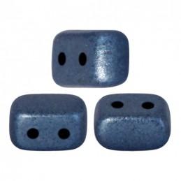Ios® par Puca® lasihelmi 5,5 x 2,5 mm, metallinen matta tummansininen