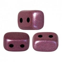 Ios® par Puca® lasihelmi 5,5 x 2,5 mm, metallinen matta tumma punavioletti