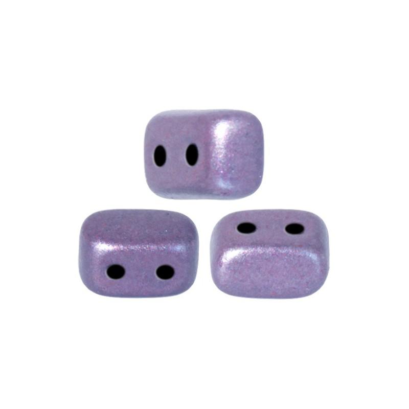 Ios® par Puca® lasihelmi 5,5 x 2,5 mm, metallinen matta violetti