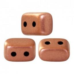 Ios® par Puca® lasihelmi 5,5 x 2,5 mm, matta kuparinen kulta