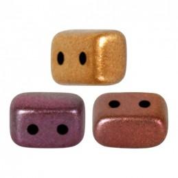 Ios® par Puca® lasihelmi 5,5 x 2,5 mm, metallinen kultainen iris
