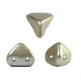 Super-KhéopS® par Puca® lasihelmi 6 x 6 mm, metallinen matta beige