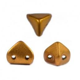 Super-KhéopS® par Puca® lasihelmi 6 x 6 mm, matta pronssinen kulta