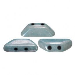 Tinos® par Puca® lasihelmi 4 x 10 mm, opaakki keraaminen sininen