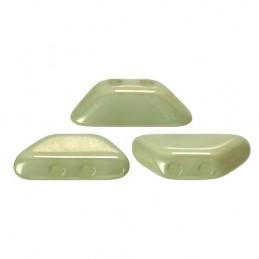 Tinos® par Puca® lasihelmi 4 x 10 mm, opaakki keraaminen vaaleanvihreä