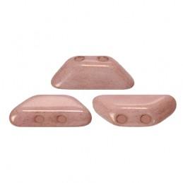 Tinos® par Puca® lasihelmi 4 x 10 mm, opaakki keraaminen vaalea roosa