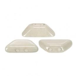 Tinos® par Puca® lasihelmi 4 x 10 mm, opaakki keraaminen valkoinen