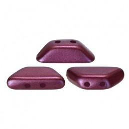 Tinos® par Puca® lasihelmi 4 x 10 mm, metallinen matta tumma punavioletti