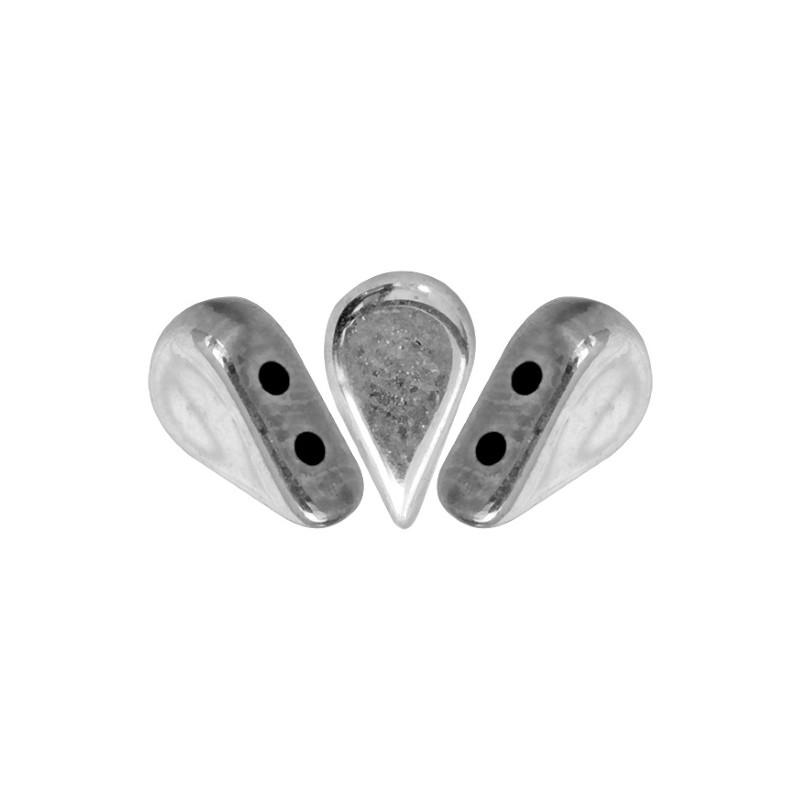 Amos® par Puca® lasihelmi5 x 8 mm, hopea