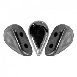 Amos® par Puca® lasihelmi 5 x 8 mm, opaakki hematiitti