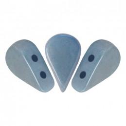 Amos® par Puca® lasihelmi 5 x 8 mm, opaakki keraaminen sininen