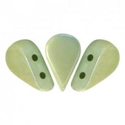 Amos® par Puca® lasihelmi 5 x 8 mm, opaakki keraaminen vaaleanvihreä