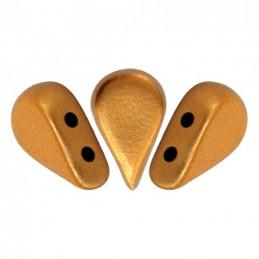 Amos® par Puca® lasihelmi 5 x 8 mm, matta pronssinen kulta
