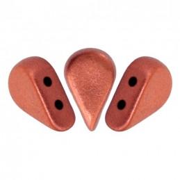 Amos® par Puca® lasihelmi 5 x 8 mm, matta pronssinen punainen