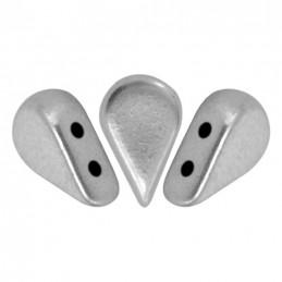 Amos® par Puca® lasihelmi 5 x 8 mm, matta alumiini hopea