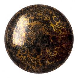 Cabochons par Puca® lasikapussi 25 mm, opaakki marmoroitu pronssinen musta