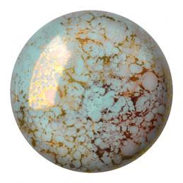 Cabochons par Puca® lasikapussi 25 mm, opaakki marmoroitu pronssinen aqua