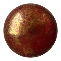 Cabochons par Puca® lasikapussi 25 mm, opaakki marmoroitu pronssinen suklaa