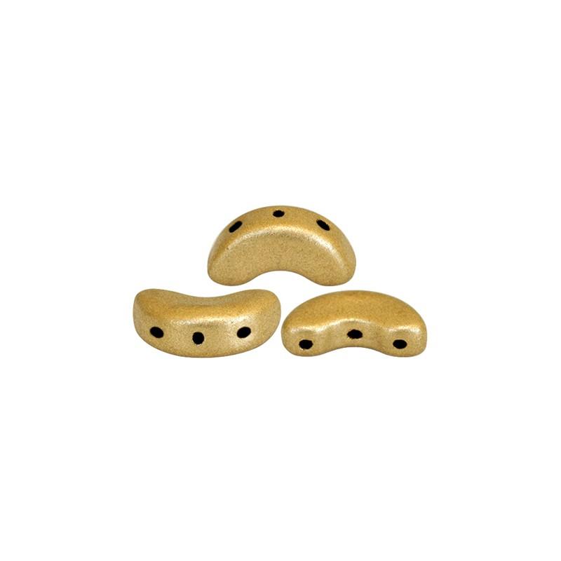 Arcos® par Puca® lasihelmi 5 x 10 mm, matta vaalea kulta