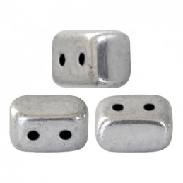 Ios® par Puca® lasihelmi 5,5 x 2,5 mm, hopea