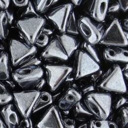 Khéops® par Puca® lasihelmi 6 x 6 mm, opaakki hematiitti