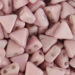 Khéops® par Puca® lasihelmi 6 x 6 mm, opaakki keraaminen vaalea roosa