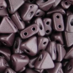 Khéops® par Puca® lasihelmi 6 x 6 mm, metallinen matta tumma luumu