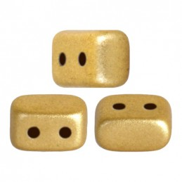 Ios® par Puca® lasihelmi 5,5 x 2,5 mm, matta vaalea kulta