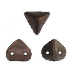 Super-KhéopS® par Puca® lasihelmi 6 x 6 mm, opaakki matta tumma pronssi