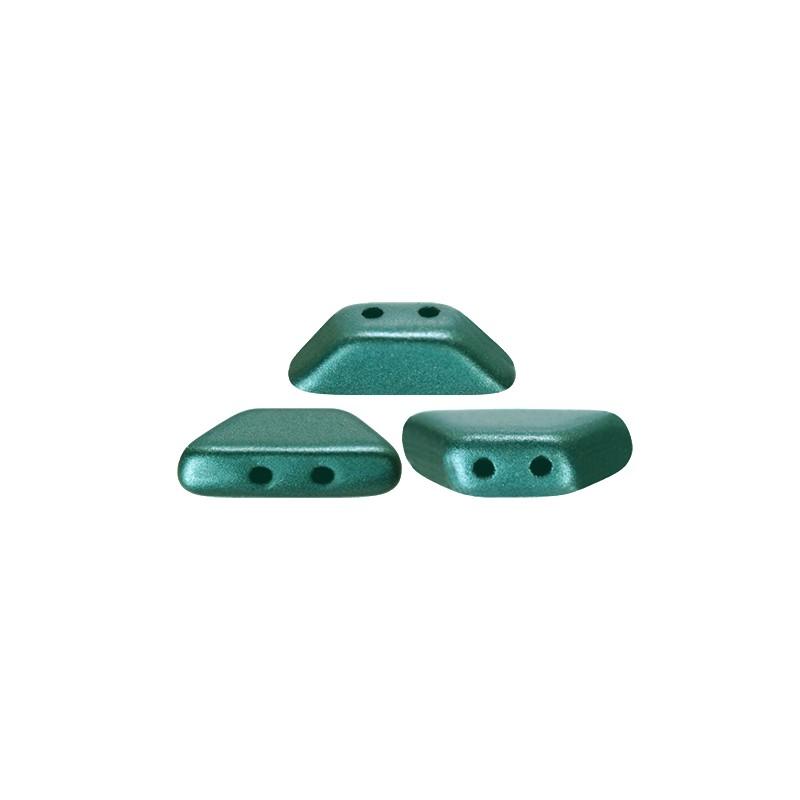 Tinos® par Puca® lasihelmi 4 x 10 mm, pastelli smaragdinvihreä