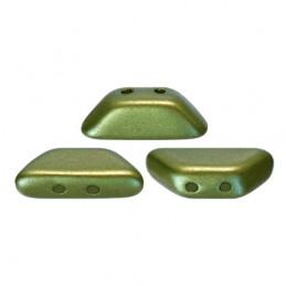 Tinos® par Puca® lasihelmi 4 x 10 mm, pastelli oliivi