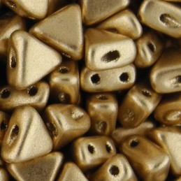 Khéops® par Puca® lasihelmi 6 x 6 mm, matta vaalea kulta
