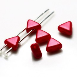 Khéops® par Puca® lasihelmi 6 x 6 mm, pastelli ruusunpunainen