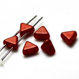 Khéops® par Puca® lasihelmi 6 x 6 mm, metallinen matta punainen