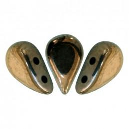 Amos® par Puca® lasihelmi 5 x 8 mm, opaakki tumma kultainen pronssi