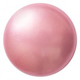 Cabochons par Puca® lasikapussi 18 mm, helmeilevä vaaleanpunainen