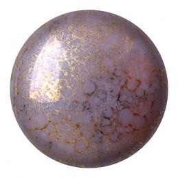 Cabochons par Puca® lasikapussi 18 mm, opaakki marmoroitu pronssinen ametisti
