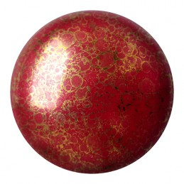 Cabochons par Puca® lasikapussi 18 mm, opaakki marmoroitu pronssinen tummanpunainen