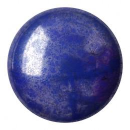 Cabochons par Puca® lasikapussi 18 mm, opaakki marmoroitu hopeinen safiirinsininen