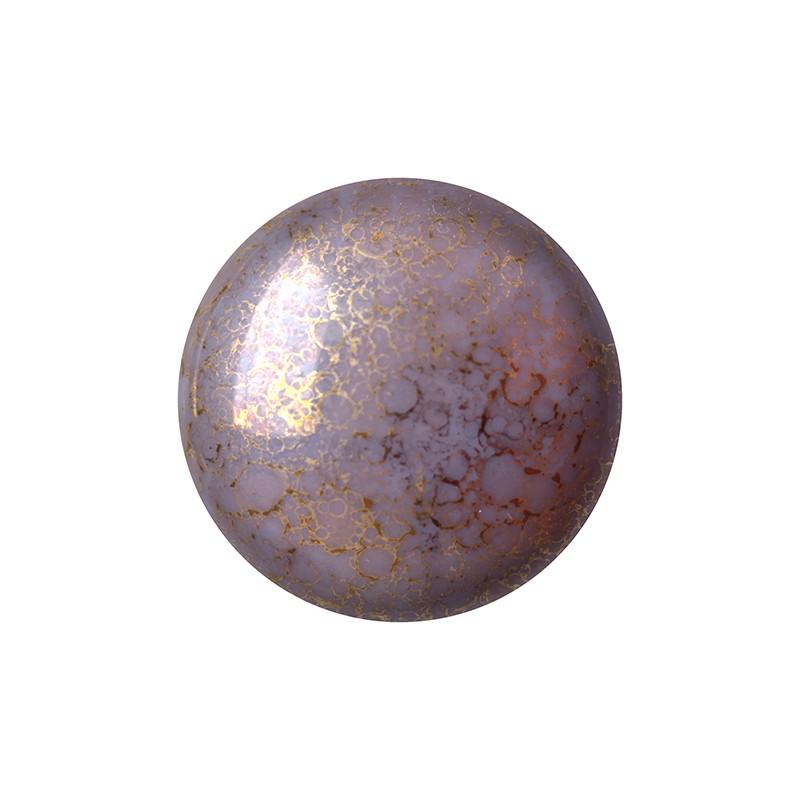 Cabochons par Puca® lasikapussi 25 mm, opaakki marmoroitu pronssinen ametisti