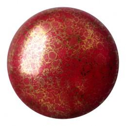 Cabochons par Puca® lasikapussi 25 mm, opaakki marmoroitu pronssinen tummanpunainen