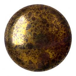 Cabochons par Puca® lasikapussi 25 mm, opaakki marmoroitu pronssinen tumma suklaa