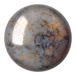 Cabochons par Puca® lasikapussi 25 mm, opaakki marmoroitu pronssinen harmaa